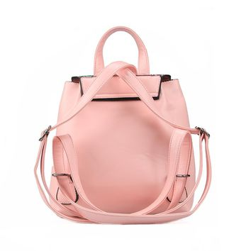 Fashion Women Leather Backpack Colorful Sequins Small Schoolbags