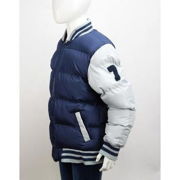 Boys Navy/Grey Bubble Varsity Jackets Size 4-7