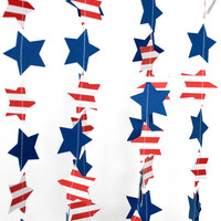 4th of July Party, Patriotic Garland, Wedding Garland, Bridal Shower Decor, Photo Prop, Romantic Garland