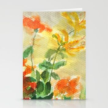 orange and yellow flowers  Stationery Cards by Color And Color