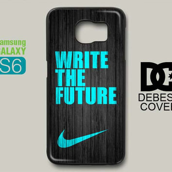 NIKE Mint Write The Future Wood Colored Samsung Galaxy S6 Case