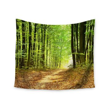 """Into the Woods"" Forest Trees Wall Tapestry"