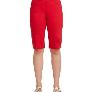 Allison Daley Petites Pull-On Bermuda Shorts | Dillards
