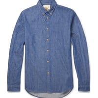 Folk - Cotton and Wool-Blend Chambray Shirt | MR PORTER