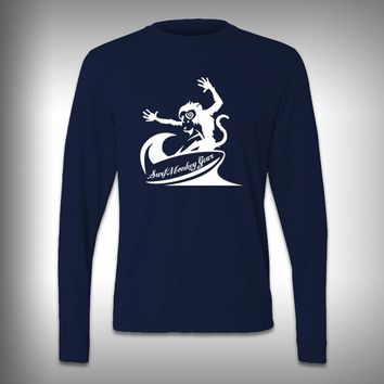 Crazy Monkey Surfing - Performance Shirt - Fishing Shirt - Decal Shirts