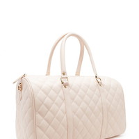 Quilted Faux Leather Travel Bag | Forever 21 - 1000204425