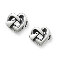 James Avery Heart Knot Stud Earrings - Sterling Silver