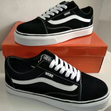 """VANS"" Unisex Casual Stripe Couple Low Help Plate Shoes Skateboard Shoes Sneakers"