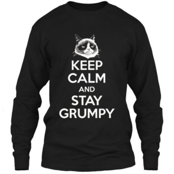 Grumpy Cat Keep Calm And Stay Grumpy Poster Graphic  LS Ultra Cotton Tshirt
