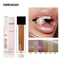 HANDAIYAN 12 Color Gold Silver glitter And Matte Lipstick nude Waterproof Gloss makeup Red Liquid mat Lips Cosmetic