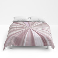Pink Mother of Pearl Abstract Comforters by Sheila Wenzel