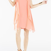 Lilie Kaftan Flutter Dress - Pink