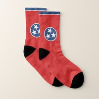 All Over Print Socks with Flag of Tennessee