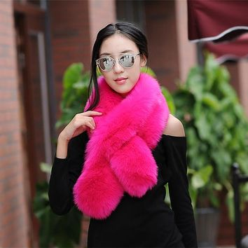 winter faux fur shawl warm collar long fur scarf women imitation fur wraps cosplay muffler female unreal fur stole accessories