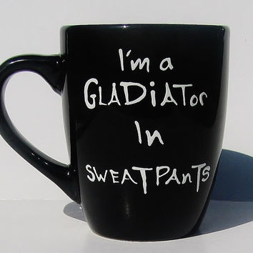 Scandal Inspired Gladiator in a Suit Gift, Gym Rat, Olivia Pope, Sweatpants