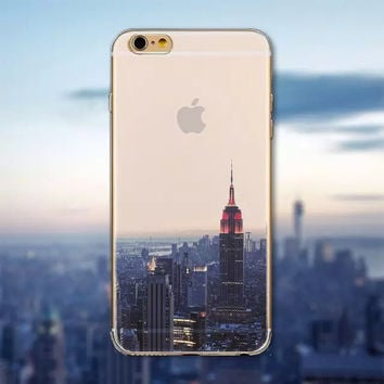 Beautiful City New York Transparent Case Cover For Apple iPhone 6 6S Case 4.7  Hard Case For Phone