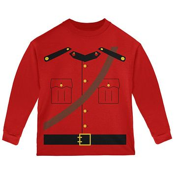 Halloween Canadian Mountie Police Costume Toddler Long Sleeve T Shirt