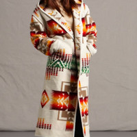 Reversible Indian Blanket Long Coat, Chief Joseph Pendleton ® Wool Coat