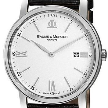 Baume and Mercier Classima Leather Watch MOA08485