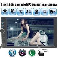 2 Din Car MP3 Player 7 inch 1080HD Touch Screen Bluetooth Car Stereo Radio Player FM MP5 USB AUX Car support rear view camera