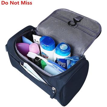 Travel Cosmetic Organizer Bag Waterproof Wash Bag Men Women Cosmetic Makeup Bag Hanging Toiletry Bag Necessaries Make Up Case