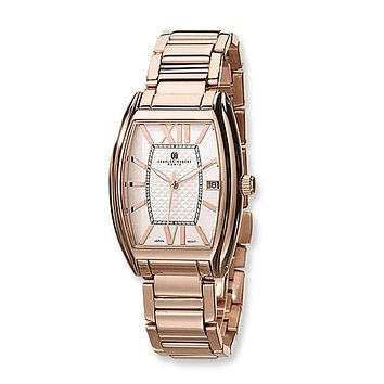 Men's, Rose Gold-plate Watch by Charles Hubert