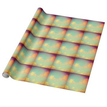 Rainbow Sky Clouds Wrapping Paper