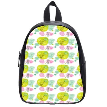 Pastel Classic Pattern School Backpack Large