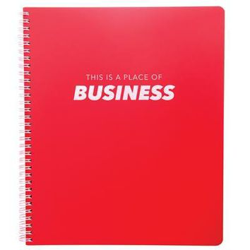 Place of Business Large Spiral Notebook