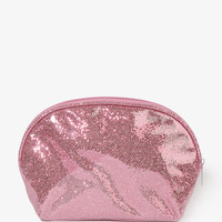 Glittered Patent Cosmetic Bag