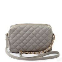 Quilted Chain Strap Cross-Body Handbag by Charlotte Russe