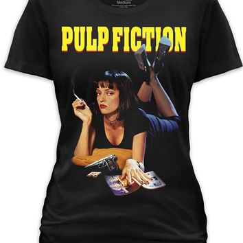 "Women's ""Pulp Fiction"" Tee by Goodie Two Sleeves (Black)"