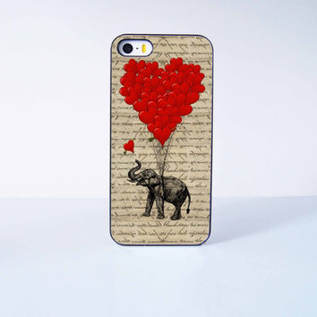 Fly Elephant with ballon Plastic Phone Case For iPhone iPhone 5/5S More Case Style Can Be Selected
