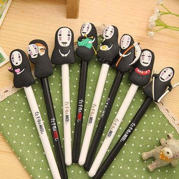 8 Pcs Cartoon Miyazaki Hayao No Face Spirited Away Gel Ink Pen Signature Pen Escolar Papelaria School Supply Promotional Gift