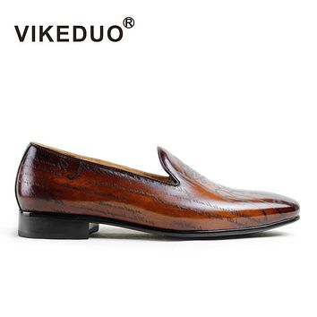 Handmade Designer men's Loafer Shoes Genuine Leather Fashion Luxury Wedding party Dress Leisure male Casual Shoes