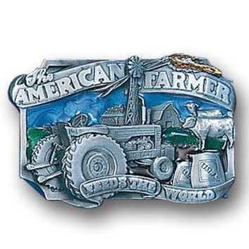 Sports Jewelry & AccessoriesSports Accessories - American Farmer Enameled Belt Buckle