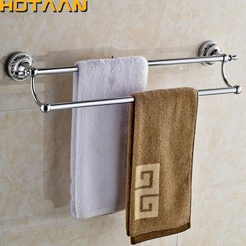 24 60cm Double Towel Bar With Ceramic Chrome Finish Towel Holder
