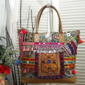 Upcycled Maycas Jewelled BOHO Gypsy Bohemian by maycascollection