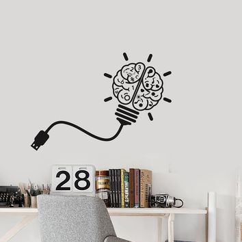 Vinyl Decal Wall Sticker USB Brain Study Art Science Mural Decor (g046)