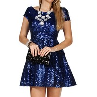 Cobalt Short Prom Dress