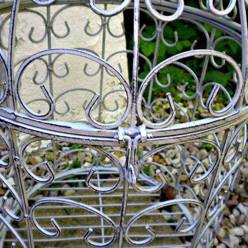 Large French Birdcage, Garden Bird, Metal Cage Planter, Vintage Inspired, Vintage Garden, Rustic Farmhouse