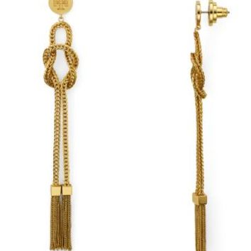 Tory Burch Chain Tassel Linear Earrings | Bloomingdales's