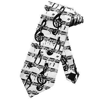 Musical Notes Men's Neck Tie