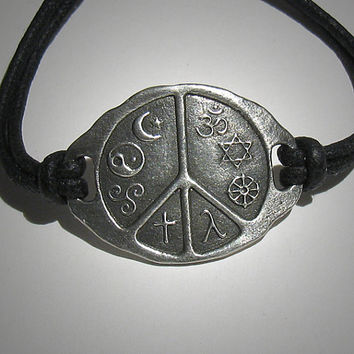 World Peace Medallion Coexist Peace bracelet