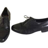 Vintage Florsheim Imperial Black Oxford Shoe Men Dress Shoe Men Shoe 12 Men Oxford Shoe