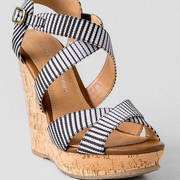 Chinese Laundry Shoes, Marianne Striped Wedge