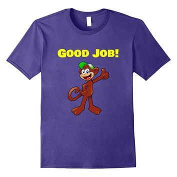 Monkey Good Job Thumbs Up Emoji Tee Shirt
