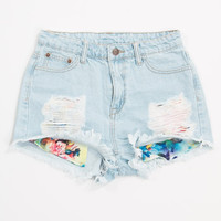 Shana Pocket Distressed Denim Shorts