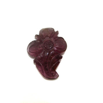 Pink Tourmaline Carving Leaf , Gorgeous Hand Carved pink Tourmaline Gemstone Flower jewelry making wire wrap pendants supplies one of a kind