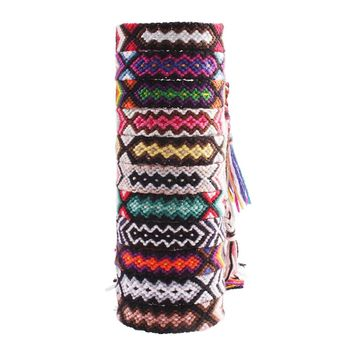 Brazilian arrow friendship bracelet promise misanga wayuu embroidery thread braided summer bracelet bresilien boho friend gift